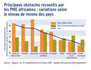 Principaux obstacles ressentis par les PME ME africaines : variations selon le niveau de revenu des pays