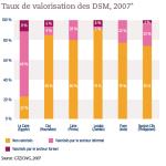 Taux de valorisation des DSM, 2007