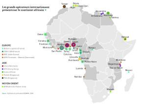 Les grands opérateurs internationaux présents sur le continent africain