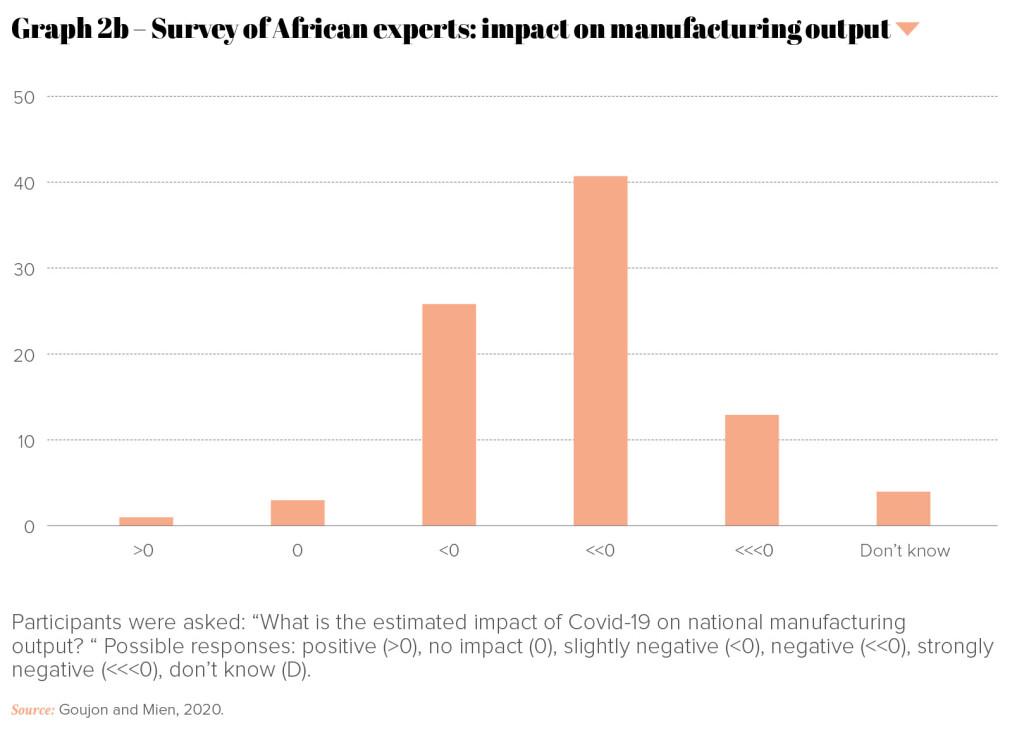 PRO-Revue n°34-UK-P40-Graph 2b – Survey of African experts- impact on manufacturing output