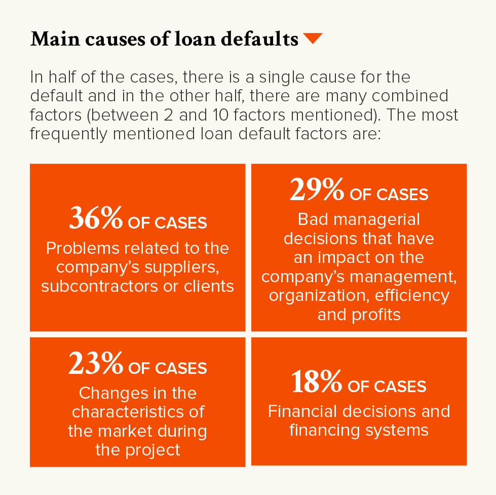 PRO-Revue N32-UK-p19-Main causes of loan defaults