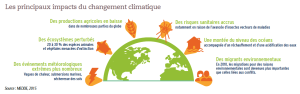 Les principaux impacts du changement climatique