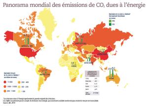 Panorama mondial des émissions de CO2 dues à l'énergie